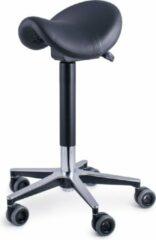 Zwarte Firmseats DE professionele Kapperskruk - met haarvrije wielen en ergonomisch smaller zadel