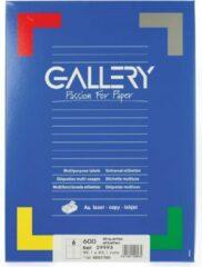 Gallery Witte Etiketten Ft 99,1 X 93,1 Mm (B X H), Ronde Hoeken, Doos Van 600 Etiketten