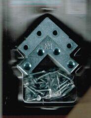 Parkside Platte hoek/ winkelhaak met schroeven/ staal/ verzinkt 12 stuks/ inc. 48 schroeven/ 40x40x 12 mm