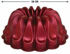 Bordeauxrode Meseler Extra Cakevorm - Bordeaux Rood - Graniet - 28cm