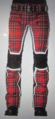 Rode SOS Sportswear of Sweden ski broek WS JACKY PANT Racing Red Tartan
