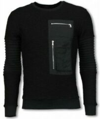 Justing Ribbel Arm met Kevlar Pocket - Sweater - Zwart Heren Sweater M