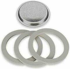 Zilveren Filterplaatje voor de espressomaker 10 kops, RVS - Bialetti