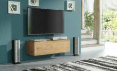 Pro-meubels - Zwevend Tv-meubel - Tv kast - Tunis - Eiken - 100cm