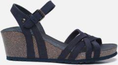 Panama Jack Vera Basics B7 sandalen met sleehak blauw - Maat 36