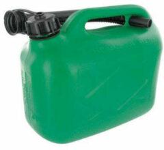 Zwarte TCP Benzinekan Jerrykan 5 Liter - Geschikt voor loodvrije brandstoffen