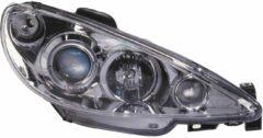 Universeel Set Koplampen Peugeot 206 2002- incl GTi 1999- - Chroom - incl. Angel-Eyes