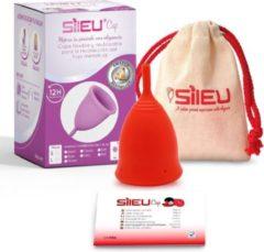Sileu menstruatiecup standaard - rood - maat S