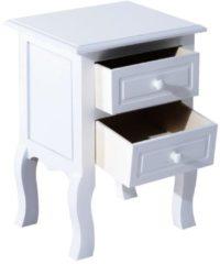 HOMCOM Nachttisch Nachtkommode Konsole Telefontisch Weiß Nachtkonsole Nachttisch Beistelltisch Telefontisch