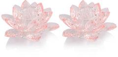 """Rosa Maison Glamour Stabkerzenhalter """"Glasblüte"""", 2tlg."""