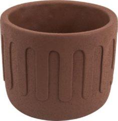 Present Time Bloempotten Plant pot Drips cement large Bruin