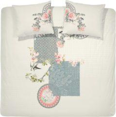 Gebroken-witte Cinderella Dekbedovertrekset 100% katoen yuzu off-white Lits-jumeaux (240 x 220 cm + 2 kussenslopen 60x70cm)
