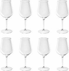Transparante Santex 8x Witte of rode wijn wijnglazen 47 cl/470 ml van onbreekbaar kunststof - Wijnen wijnliefhebbers drinkglazen - Wijn drinken – herbruikbare glazen