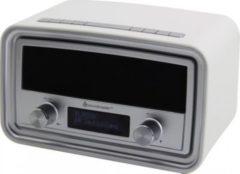 Soundmaster UR190WE DAB+/ UKW Uhrenradio mit USB Ladebuchse - weiß