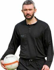 Precision Scheidsrechtersshirt Heren Polyester Zwart Maat 3xl