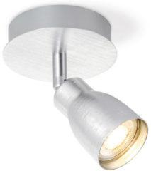 Zilveren Light Depot - LED Opbouwspot Alba - Incl. LED Spot - Ø 11,5 cm - Aluminium