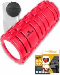 Rode Rising-Phoenix RP® Foam Roller inclusief Massage Bal Foamroller Massage Roller & Massagebal - Met Tas, Triggerpoint Bal, Workout eBook & Poster