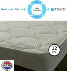 Witte OmRa bedding scandic Tencel Topper - Nasa - Traagschuim - 12cm dik - 200x210cm