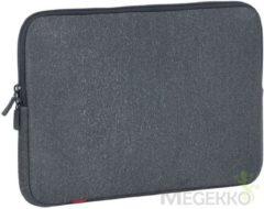Grijze Riva Case Rivacase Antishock Laptop Sleeve 15.4 inch Dark Grey