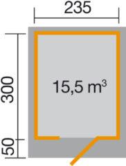 Weka tuinhuis Design 172 Gr.2 7,1m²