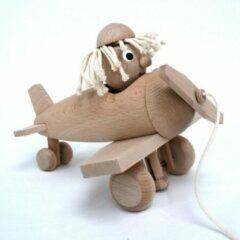 Miva Trekfiguur houten vliegmachine