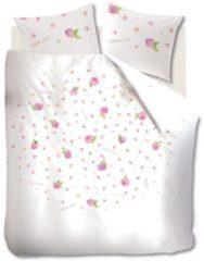 Roze Marjolein Bastin Soft Roses - Dekbedovertrek - Lits-jumeaux - 240x200/220 cm + 2 kussenslopen 60x70 cm - Pink