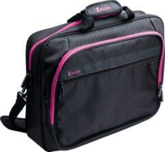 "König Laptop Tas 15-16""Polyester Zwart/Roze Laptop Tas 15-16""Polyester Zwart/Roze"