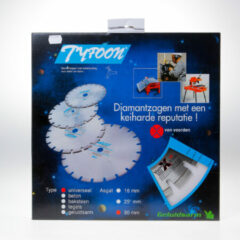 Klusgereedschapshop Diamantzaag universeel nat Tyfoon diameter 300 x asgat 30mm