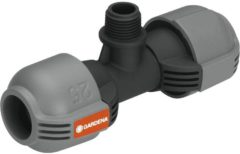 "Grijze Gardena Sprinkler System T-stuk 25 mm x 1/2"" buitendraad"