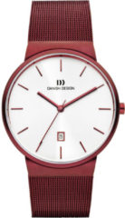 Rode Danish Design edelstalen herenhorloge Tåge Red Large IQ74Q971