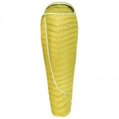Grüezi Bag - Biopod DownWool Extreme Light 185 - Donzen slaapzak maat 215 x 80 x 50 cm, geel
