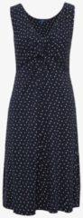 TOM TAILOR TOM TAILOR Damen Gemustertes Kleid mit Knoten-Detail vorne, Damen, real navy blue, Größe: 42, blau, gemustert, Gr.42