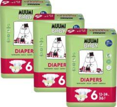 Eco Muumi Baby luiers maat 6 - 12-24 kg - 108 stuks- ecologisch
