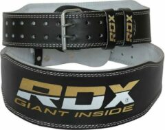 Witte RDX Sports RDX Gym Lederen Gewichtenhef Riem - 2XL - Zwart - Leer