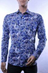 Blauwe Corrino lange mouw overhemd blouse heren / volwassenen