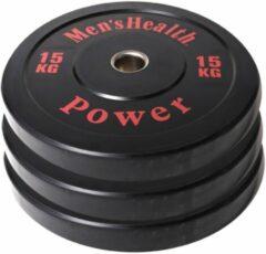 Men's Health Bumper Plate - Halterschijf - 50 mm - 15 kg
