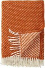 Plaid-Wol-Klippan-Velvet - Deken - Woon accessoire - wollendeken -Terracotta - Oranje