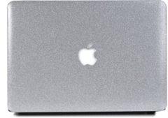 Zilveren Lunso hardcase hoes glitter zilver voor de MacBook Pro Retina 13 inch (2012-2015)