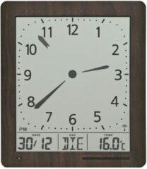 Zilveren AMS Digitale Radiocontrolled (Tafel) Klok 5893