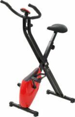 VidaXL Hometrainer X-bike magnetisch met hartslagmeter zwart en rood