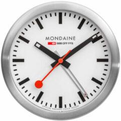 Mondaine Mini Desk Clock A997.MCAL.16SBB Bureauklok - Aluminium - Zilverkleurig - Ø125 mm