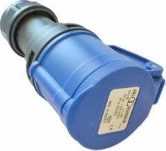 Abl Contrastekker Cee Norm 230V 16A 2P + Aarde Blauw