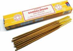 Bruine Satya Sai Baba Sandalwood wierook (SATYA) incense 15 grams