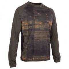 ION - Tee L/S Traze AMP - Fietsshirt maat 50, zwart/bruin
