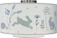 Blauwe Taftan - Hello World - Plafondlamp 35 cm