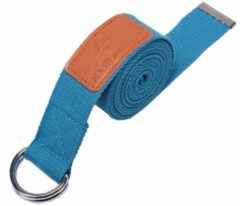 #DoYourYoga - Yogariem - »Amita« - 100% polyester met stabiele metalen ringsluiting - 260 x 3,8 cm - Petrol