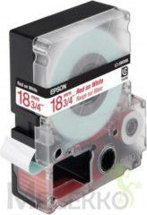 Rode Lettertape Epson LC-5WRN9 rood op wit tape 18mm tape origineel