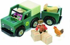 Groene Le Toy Van Farm TV438 Truck met oplegger