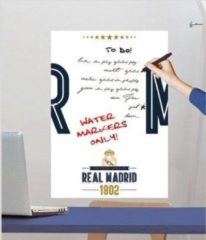 Real Madrid CF Real Madrid White Board - Muursticker - 47 x 67 cm - Multi
