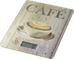 Wenko Keukenweegschaal Café 14 X 19,5 Cm Glas Bruin